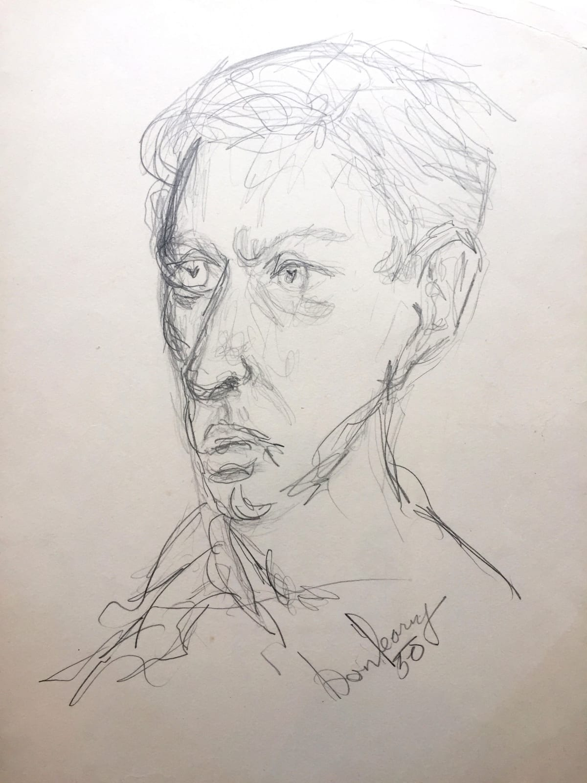Self-portrait (dated 1950) pencil on paper 52 x 42 cm