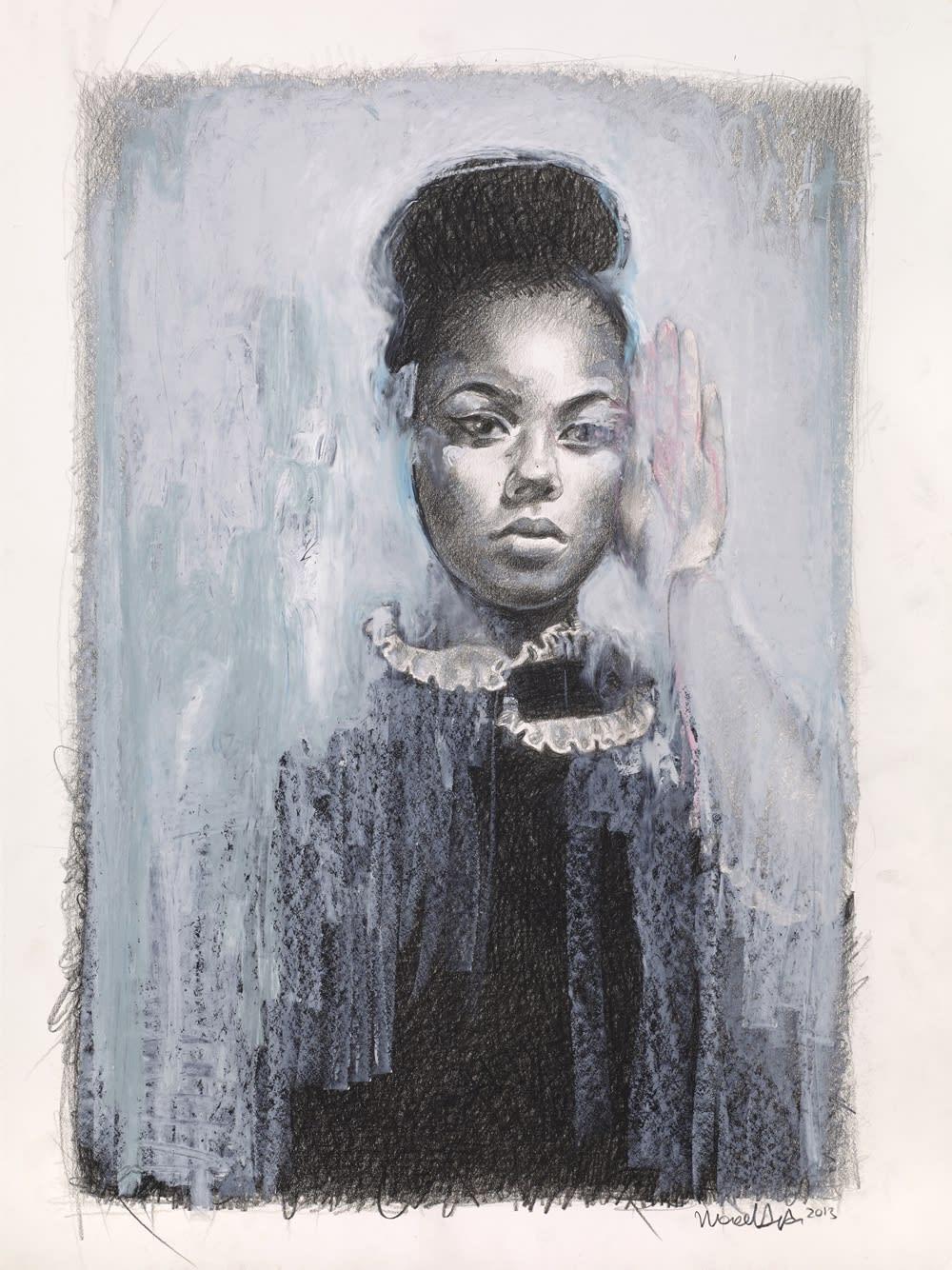 """Honey Sinclair ~ pencil & oil pastel on paper ~ 24 x 18"""""""