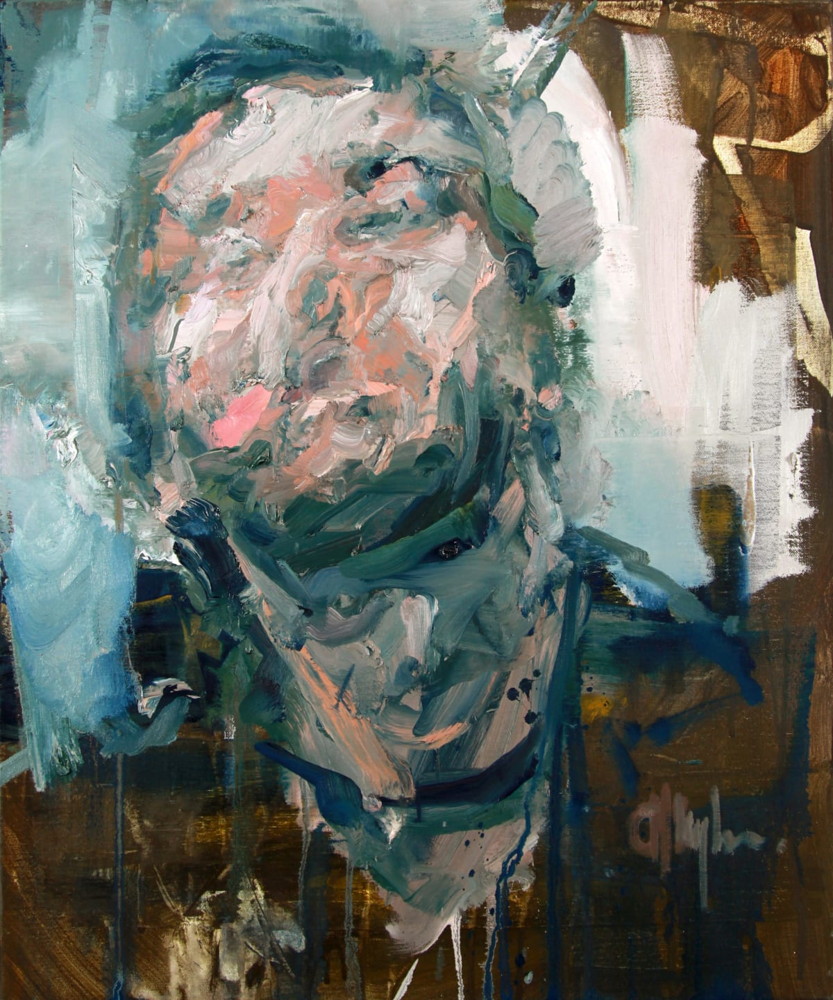 Tronie - Head of a man oil on canvas 24 x 20 inches