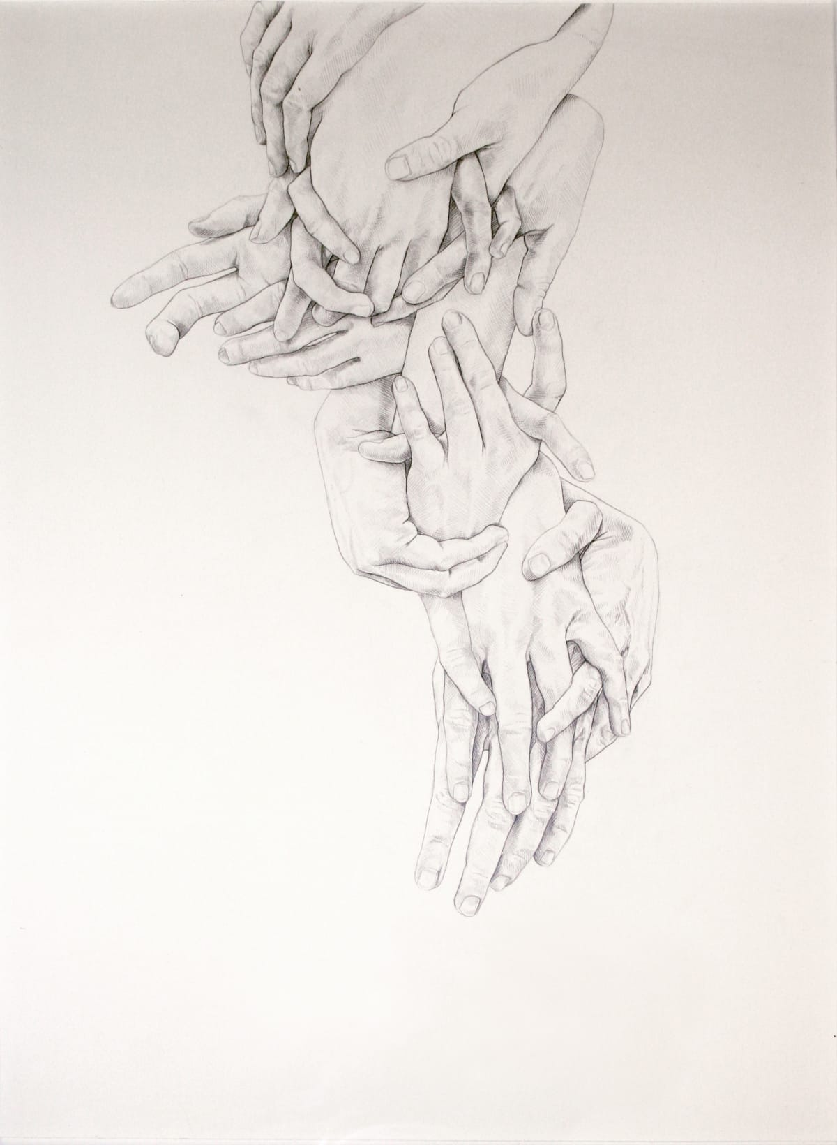 Cluster I, pencil on paper, 74 x 56cm