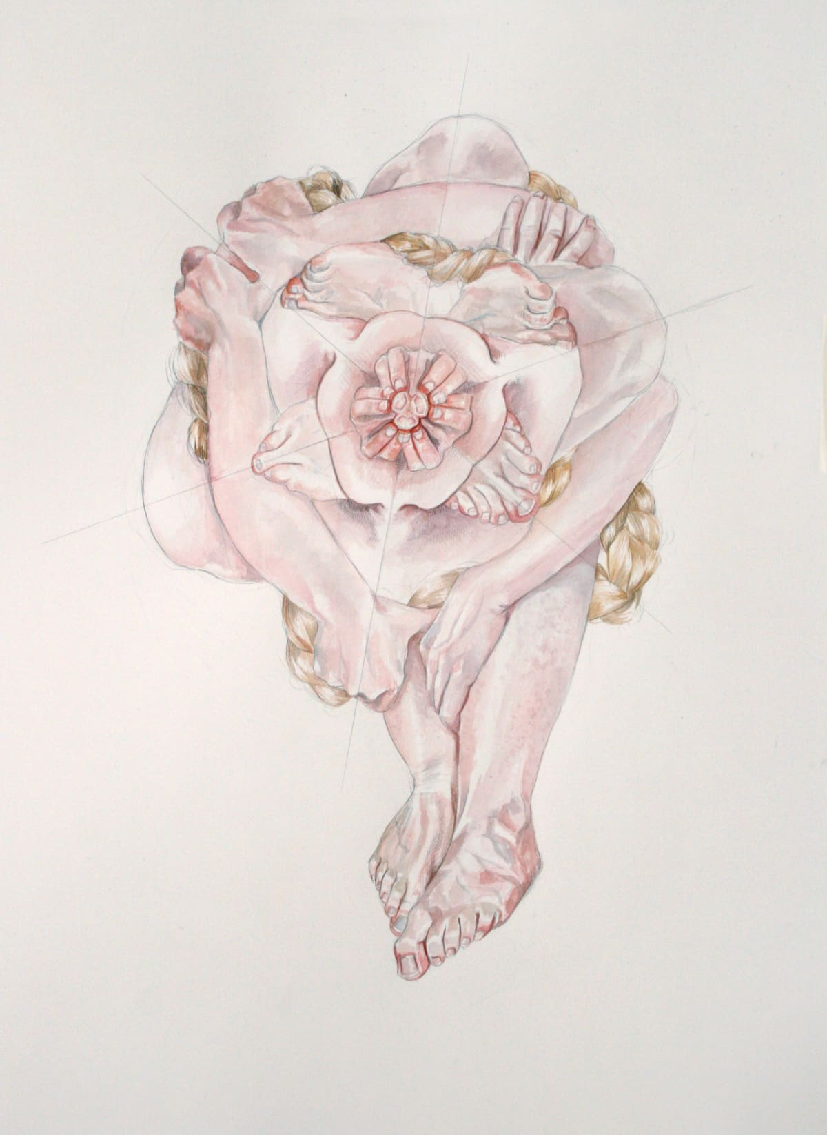 Vera Klute Bulk Pencil & watercolour on paper 70 x 55cm