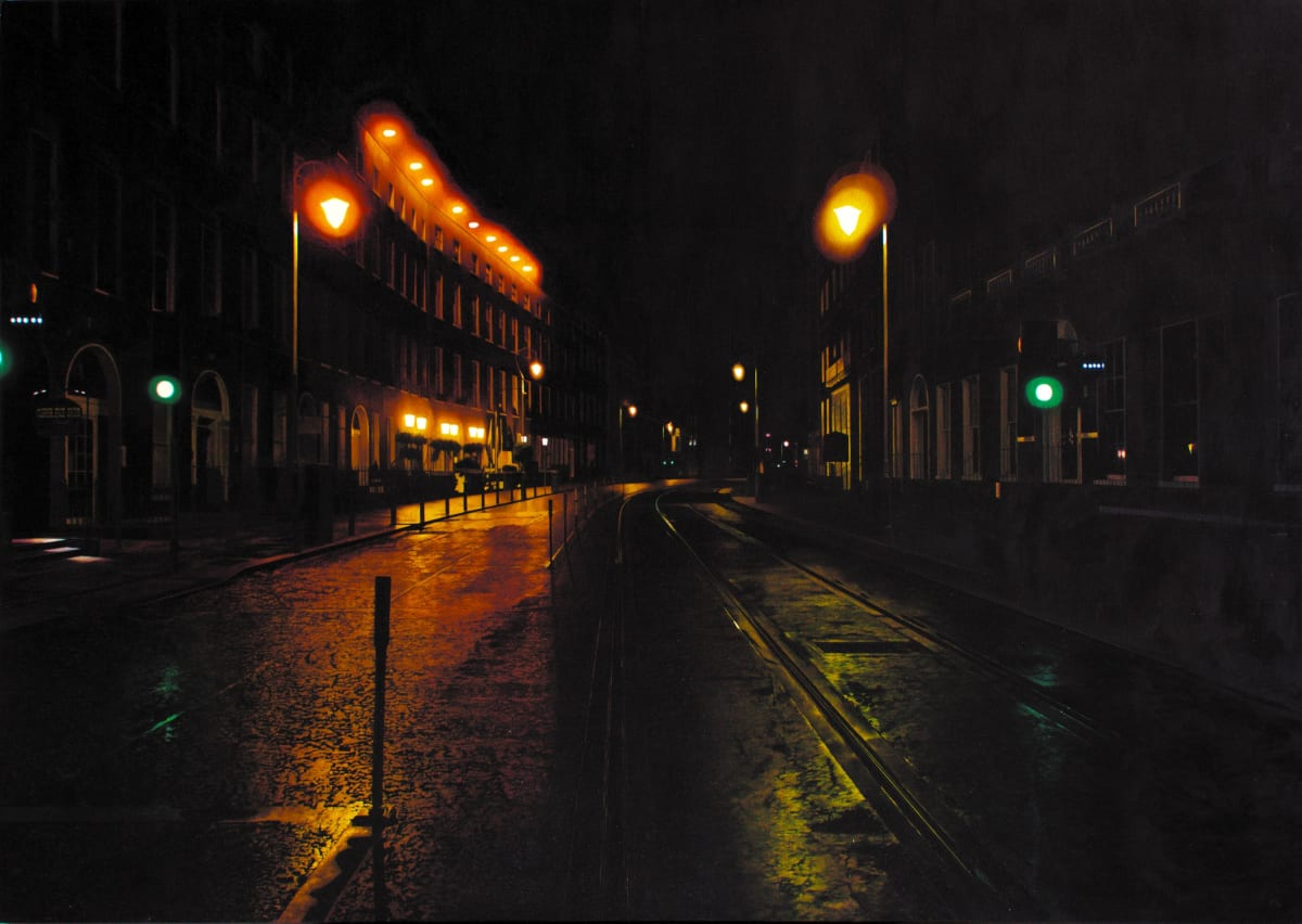 Harcourt St oil on canvas 80 x 120 cm