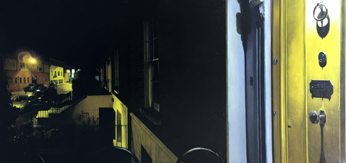 Pleasants Street - east oil on canvas 50 x 100 cm