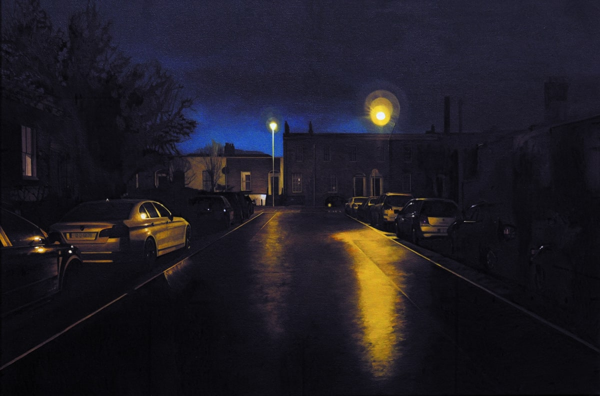 Pleasants Street - west oil on canvas 40 x 60 cm