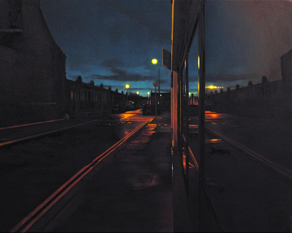 Pleasants Street oil on canvas 40 x 50 cm