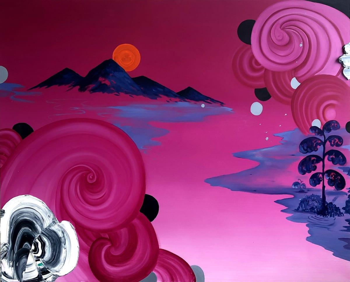 Jane Rainey Crossing Oil on canvas 120 x 150 cm