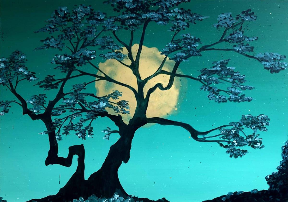 Jane Rainey Golden sun Oil on canvas 90 x 120 cm