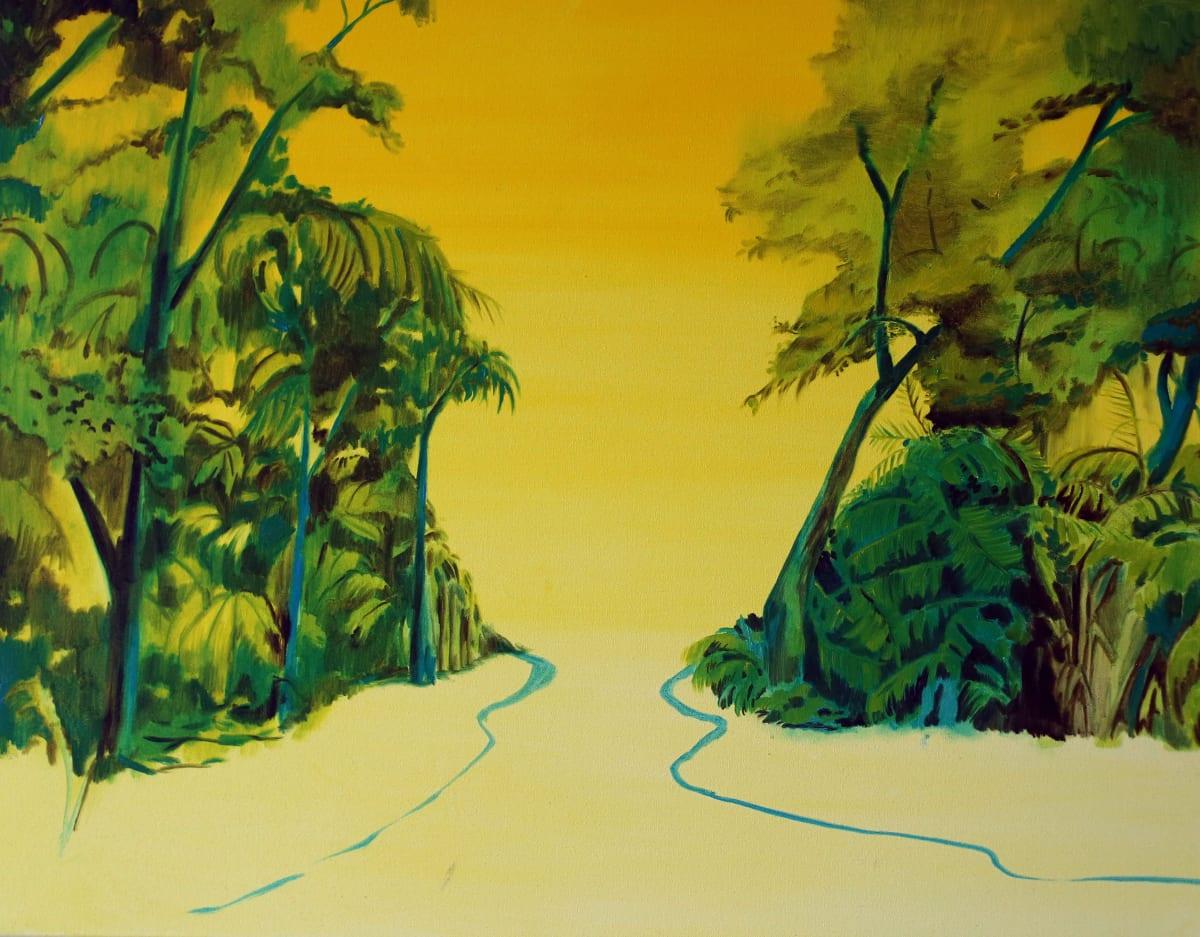 Jane Rainey Yellow sky Oil on canvas 70 x 90 cm