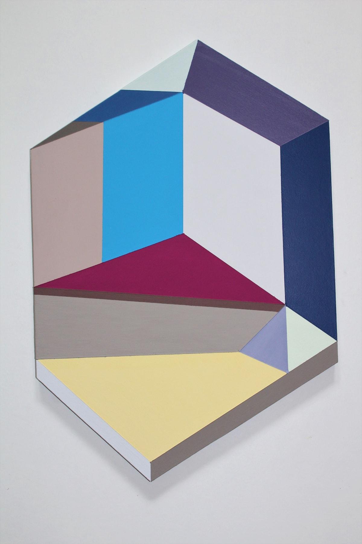 Megan Burns, Altered space 0.11, emulsion on board, 45 x 31 cm