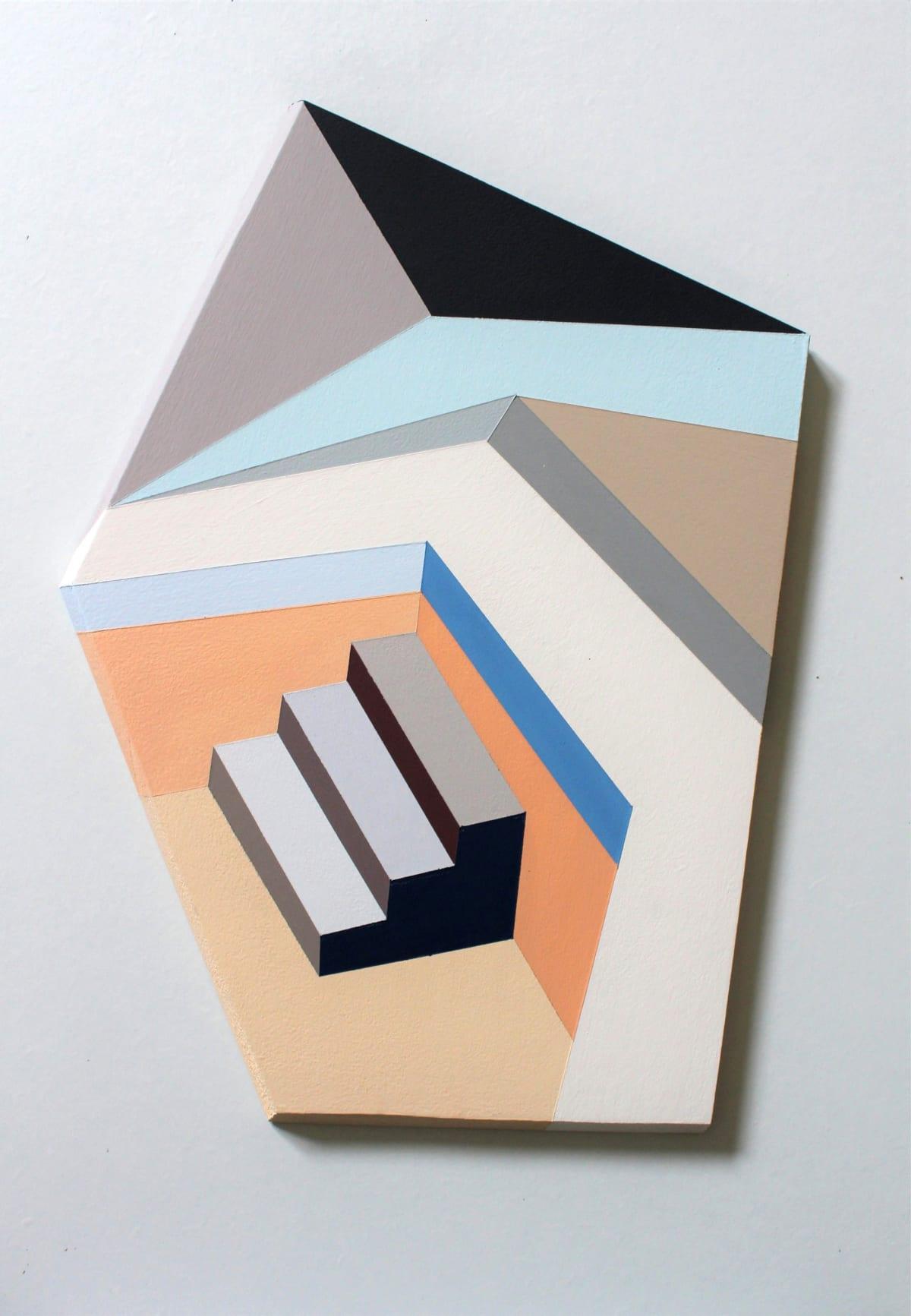 Megan Burns, Altered space 0.12, emulsion on board, 38 x 27 cm