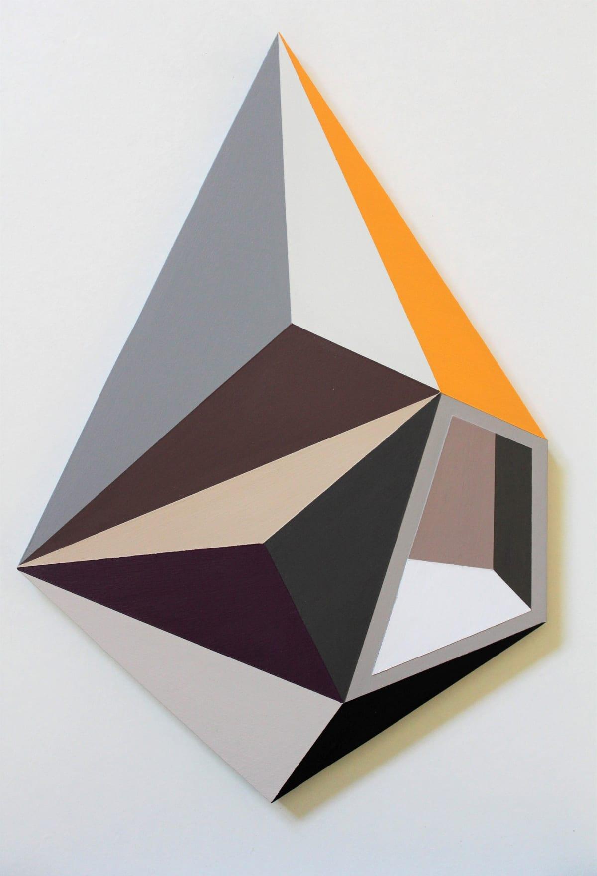 Megan Burns, Altered space 0.15, emulsion on board, 44 x 30.5 cm