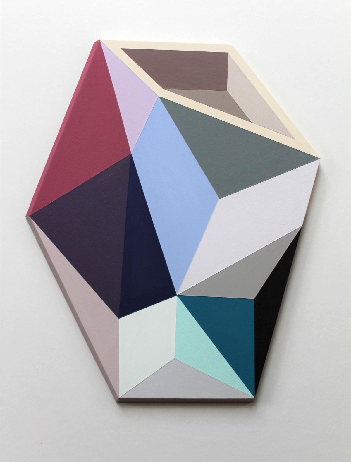 Megan Burns, Altered space 0.16, emulsion on board, 39 x 30 cm