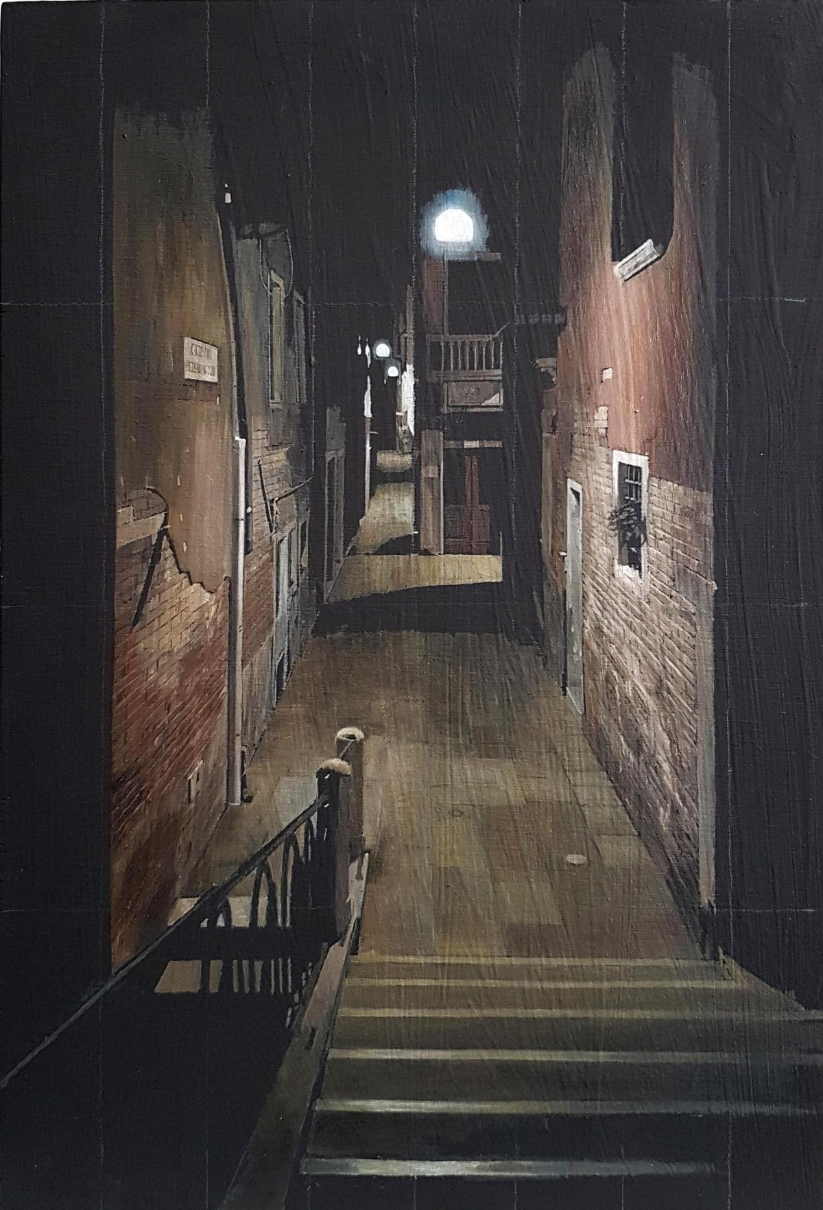 Francis Matthews, Calle Crosera, oil on board, 30 x 20 cm