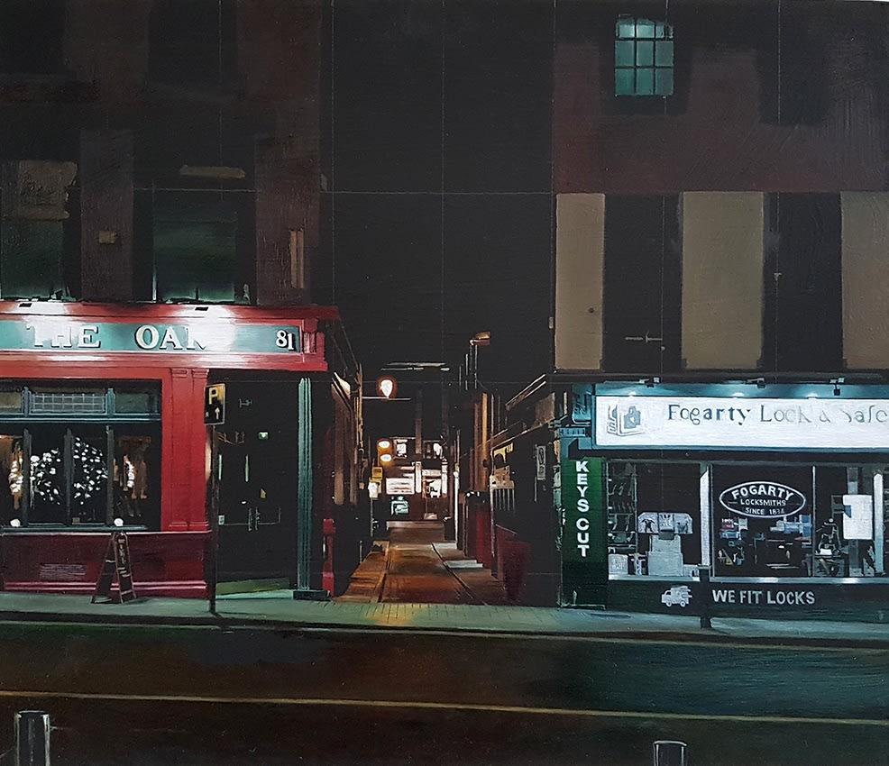 Francis Matthews, Dame Study, oil on board, 35 x 45 cm