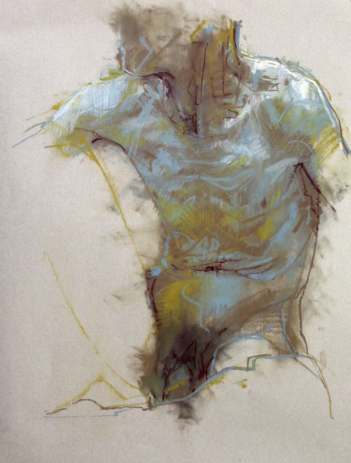 Cian McLoughlin Torso Chalk pastel 29 x 21 cm