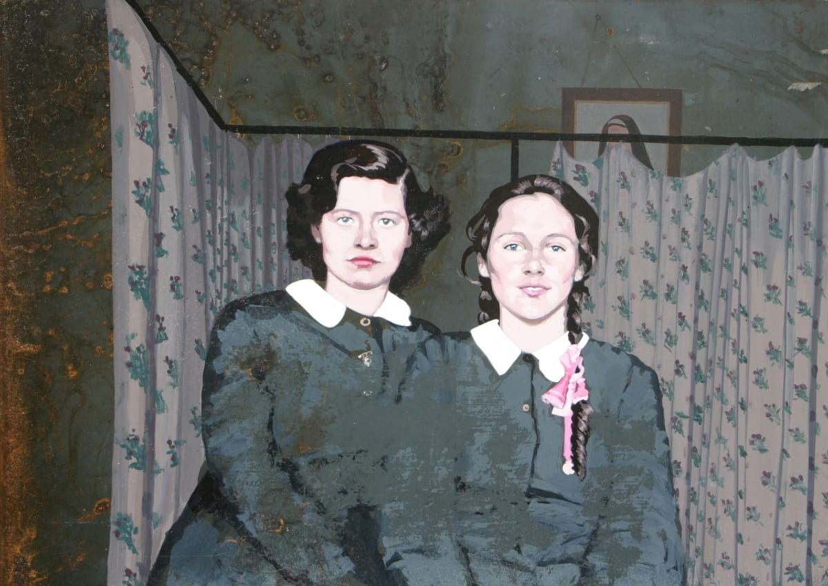 Catherine Barron Dormitory Acrylic ink on sheet metal 26 x 35 cm