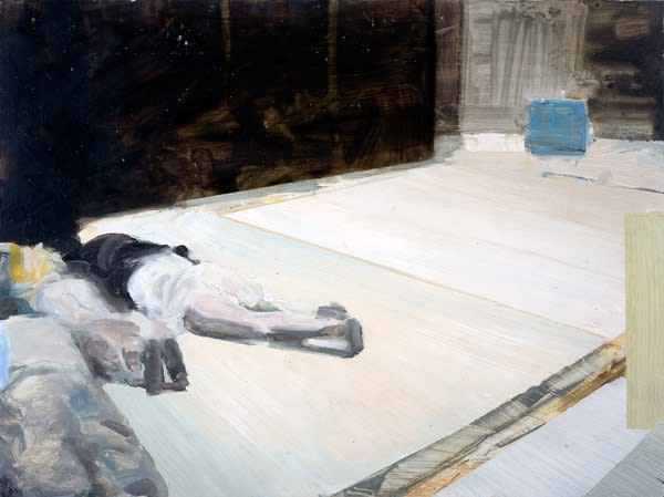 Conor Foy Lying Down Oil on board 28 x 35 cm