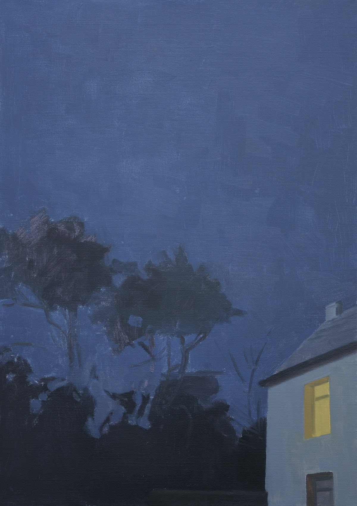Maeve McCarthy Night home Oil on linen 70 x 50 cm