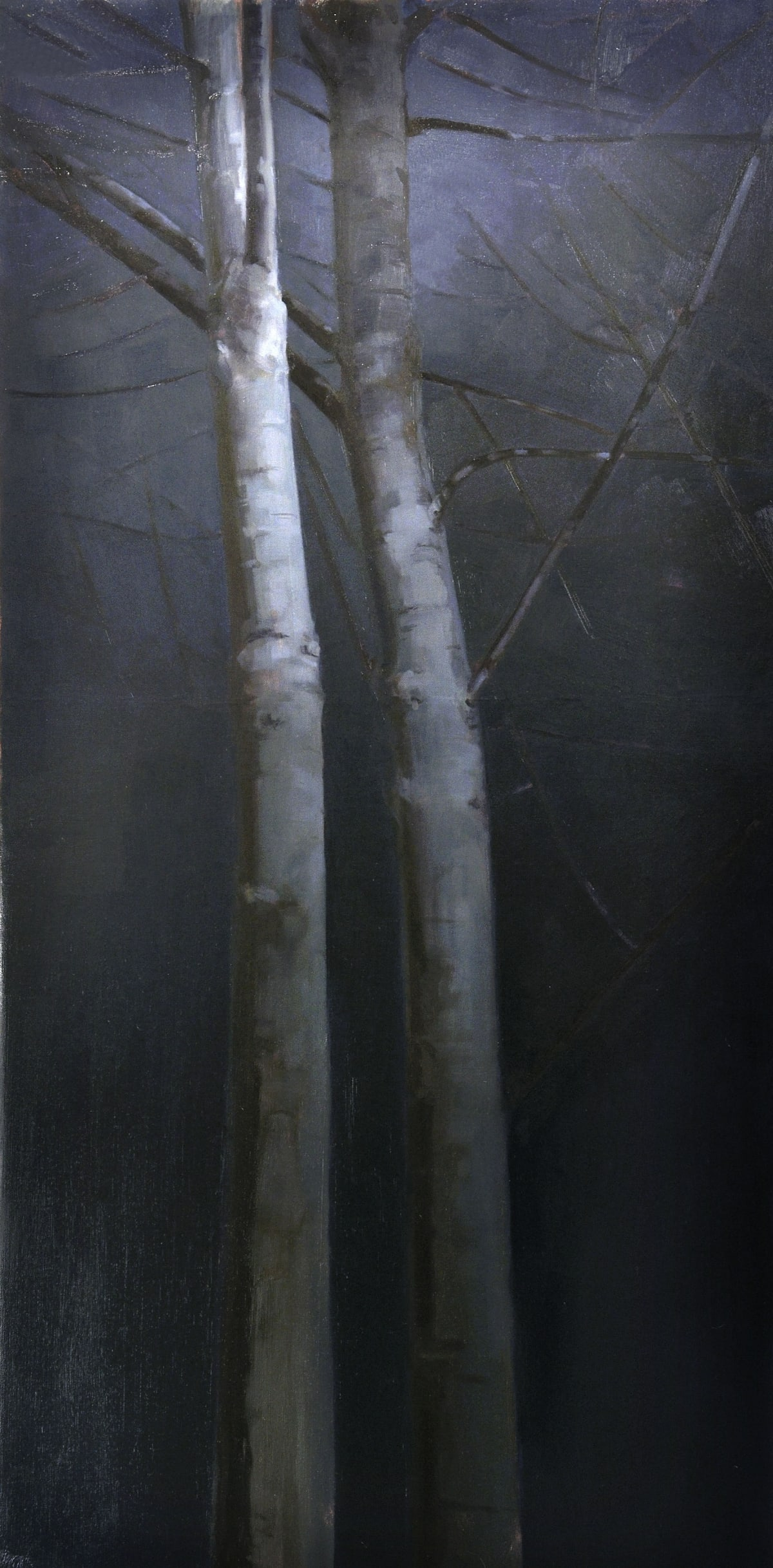 Maeve McCarthy Towering trees, night Oil on canvas 120 x 60 cm