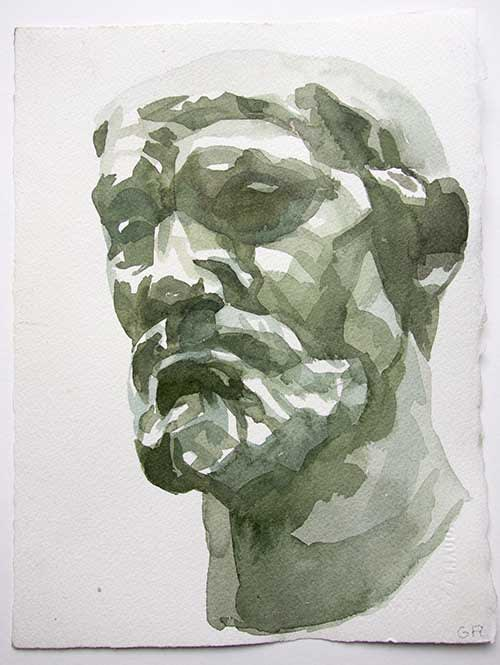 Gareth Reid After Auguste II Watercolour on paper