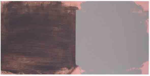 Bridget O'Rourke Far and near pink Oil on wood 30 x 60 cm