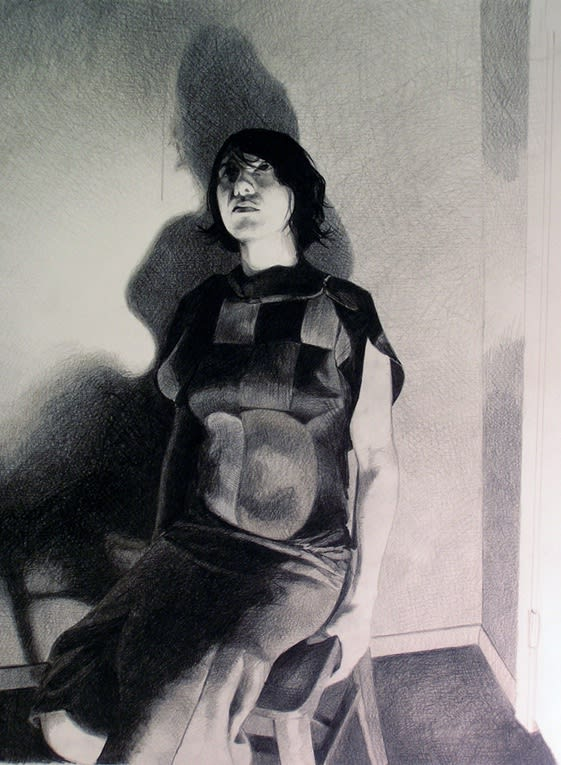 Mercedes Helnwein Carla Black pencil on paper 50 x 40 cm