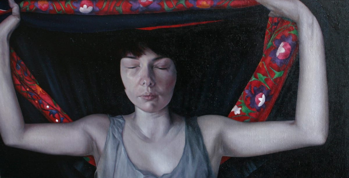 Sheila Pomeroy Caul Oil on panel 88 x 170 cm