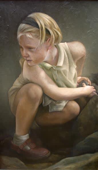 Sheila Pomeroy Clamant Oil on Panel 117 x 71 cm