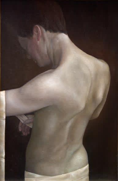 Sheila Pomeroy Winding sheet Oil on Panel 99 x 66 cm