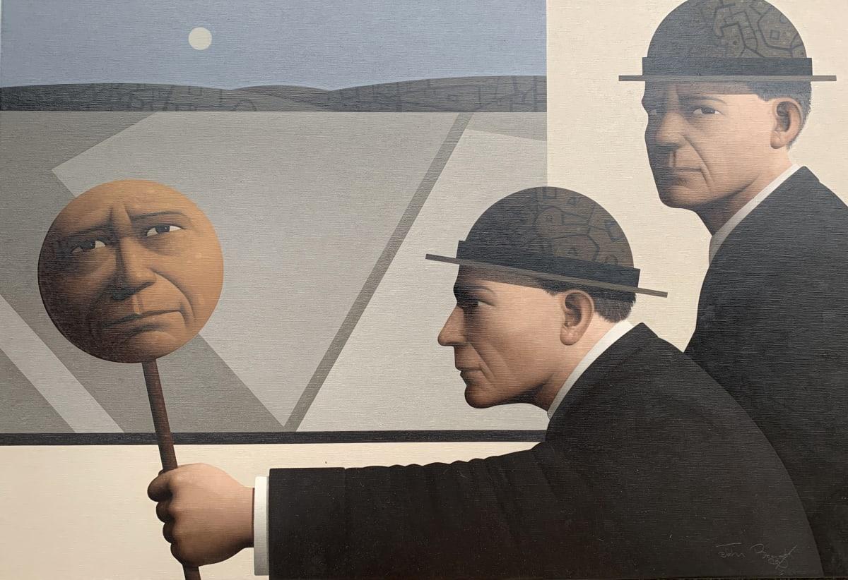 John Boyd Ambivalent position Oil on canvas 50 x 75 cm