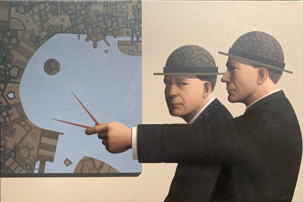 John Boyd Divining uncertainty (Terra incognita I) Oil on canvas 50 x 75 cm