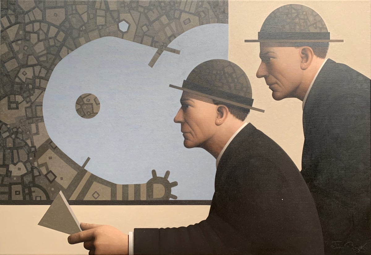 John Boyd Defining uncertainty (Terra incognita II) Oil on canvas 50 x 75 cm