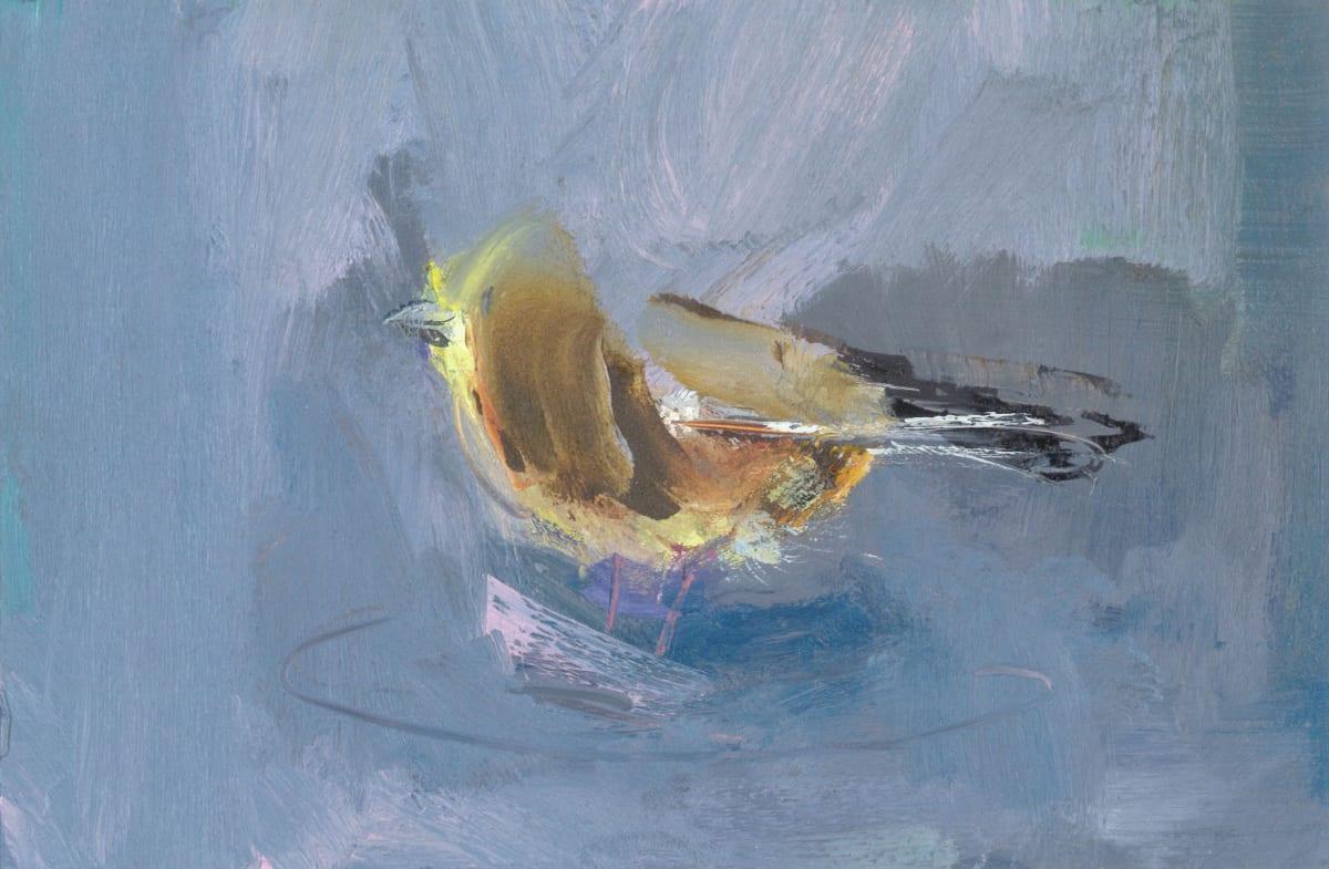 Gabhann Dunne Circe's bird Oil on gesso panel 10 x 15 cm