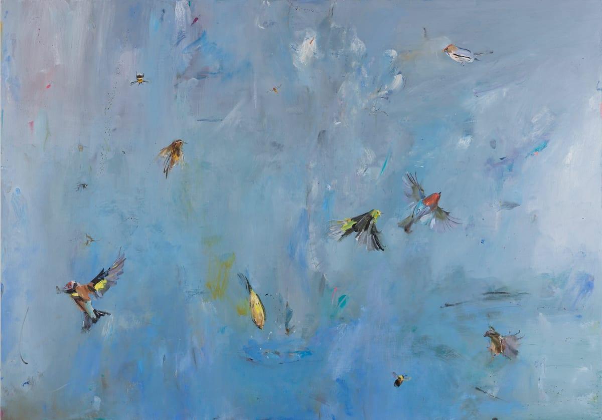 Gabhann Dunne Hurricane Oil on gesso panel 70 x 100 cm