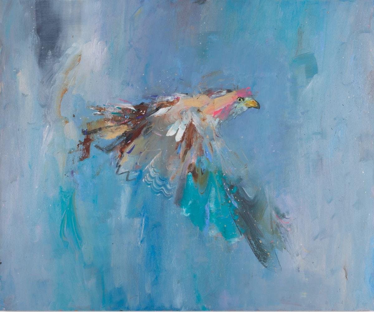 Gabhann Dunne Kite Oil on gesso panel 50 x 60 cm