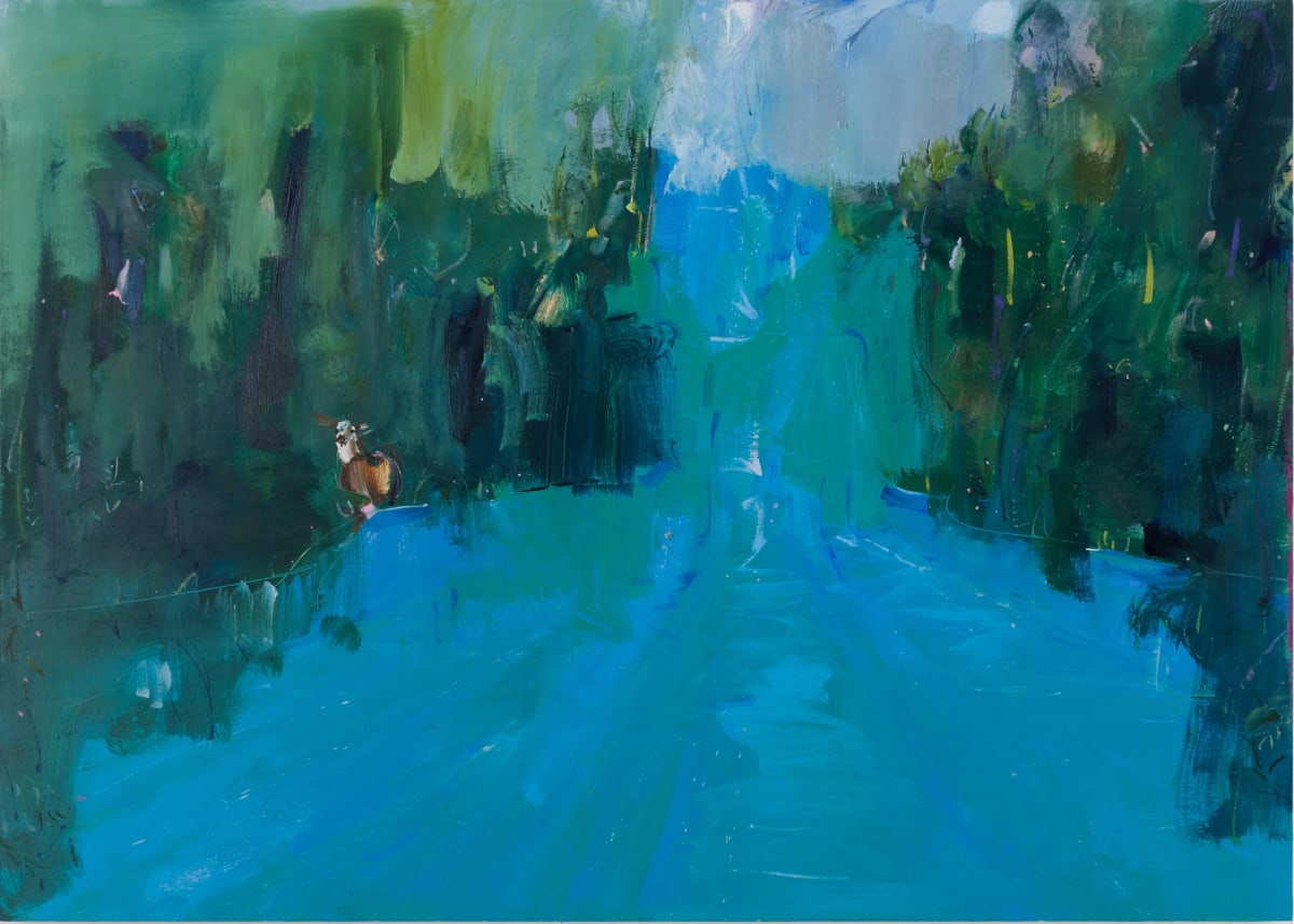 Gabhann Dunne Stealing rivers Oil on gesso panel 50 x 70 cm