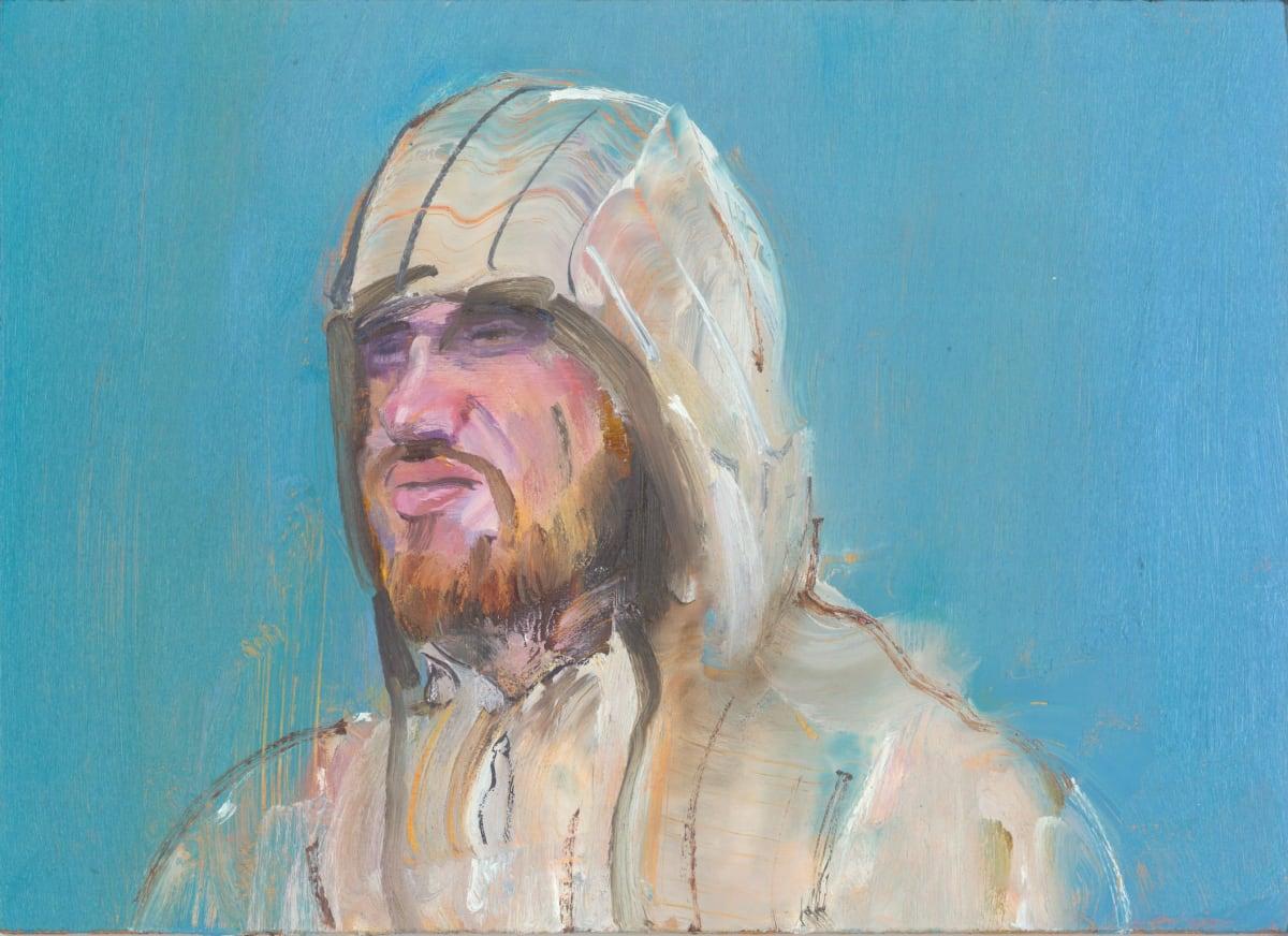 Gabhann Dunne The Knight Eoghan Oil on gesso panel 13 x 18 cm