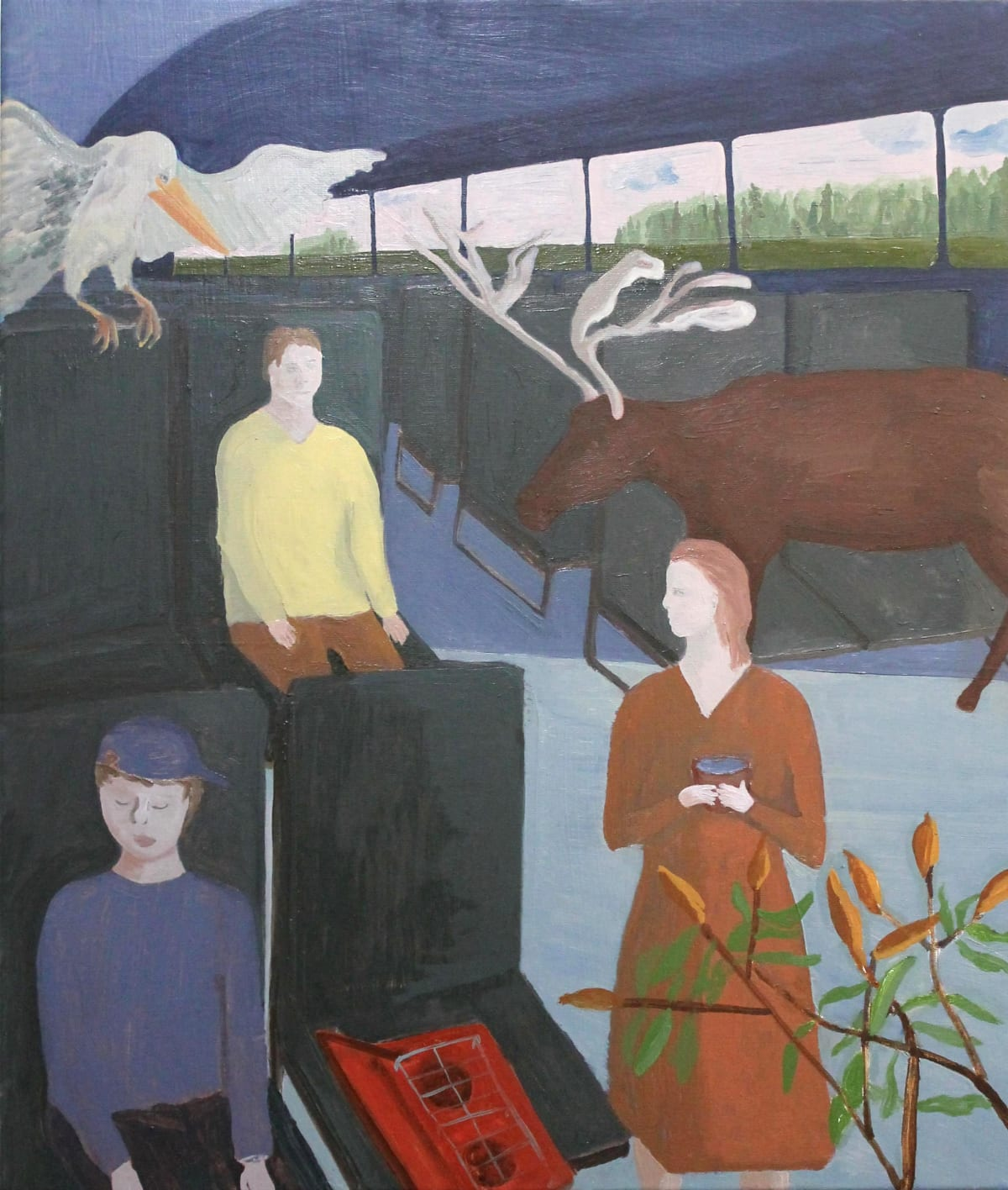Oscar Fouz Lopez No signal Oil on canvas 70 x 60 cm