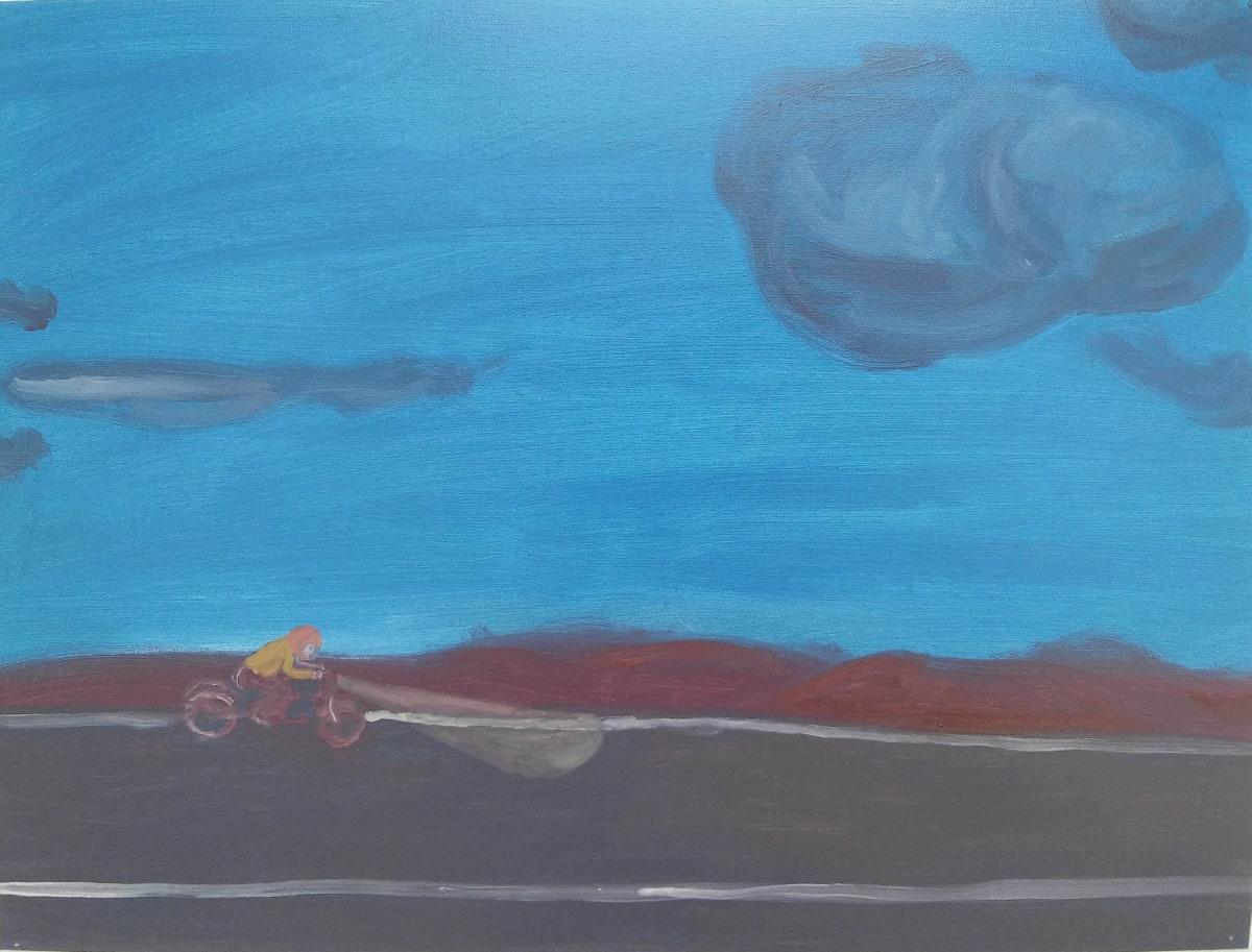 Oscar Fouz Lopez Untitled Oil on paper 30 x 40 cm