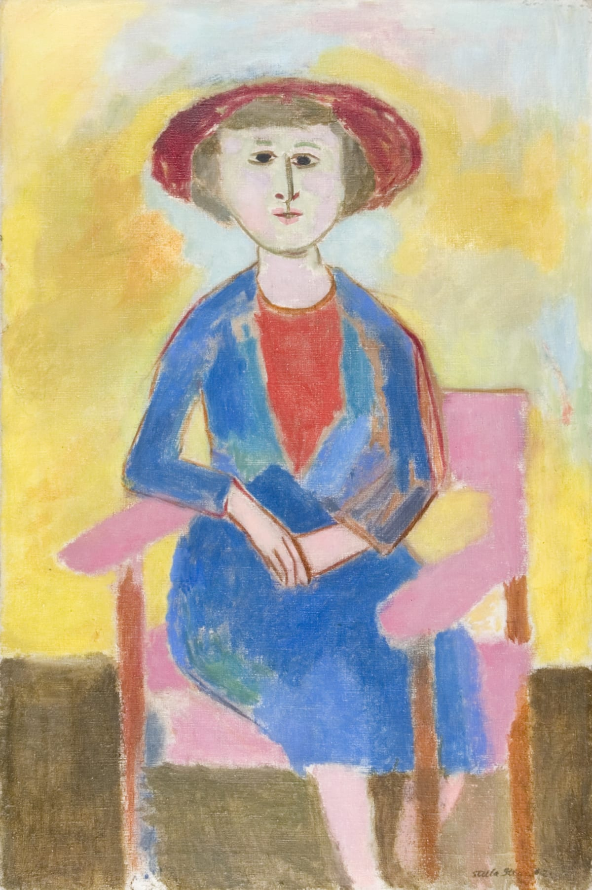 The Pink Chair Signed and dated 1952 Oil on canvas 36 x 24 inches