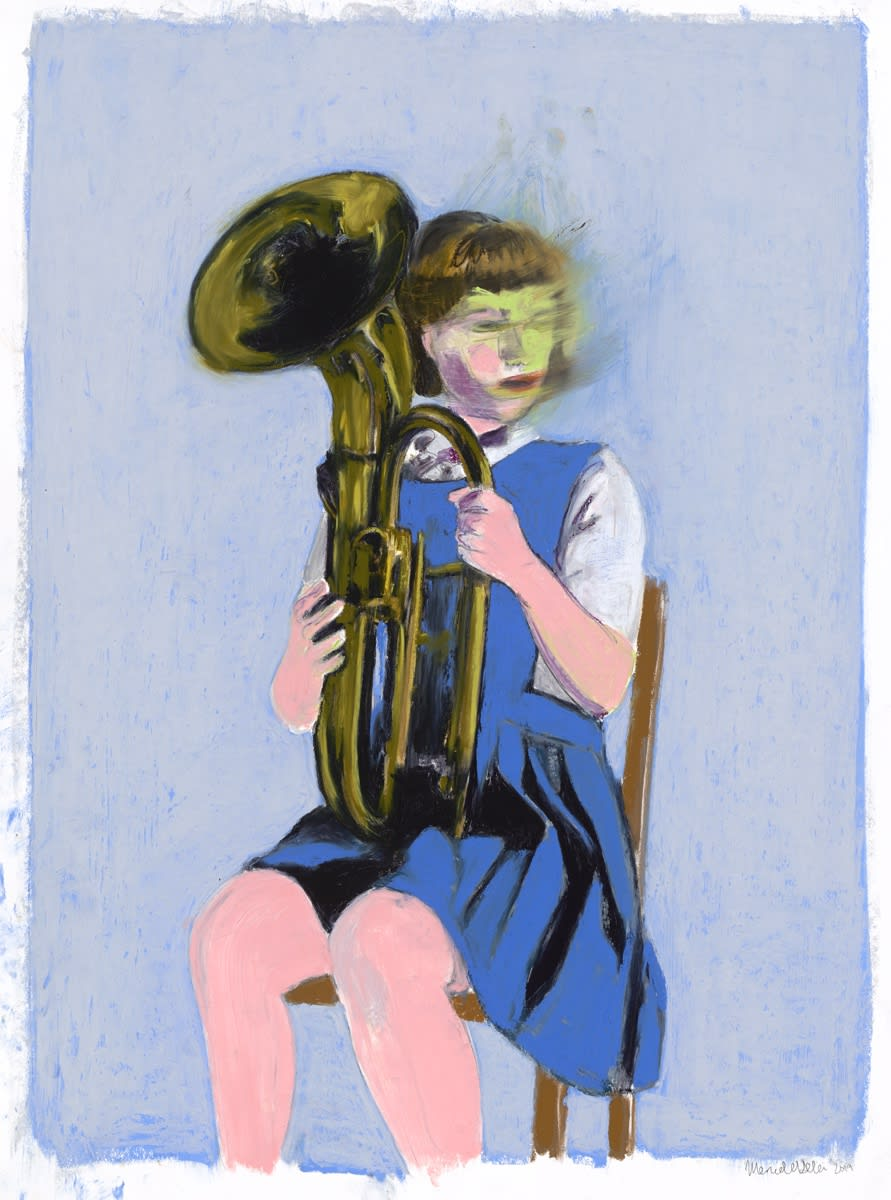 Mercedes Helnwein, Girl with a baritone horn, 2018