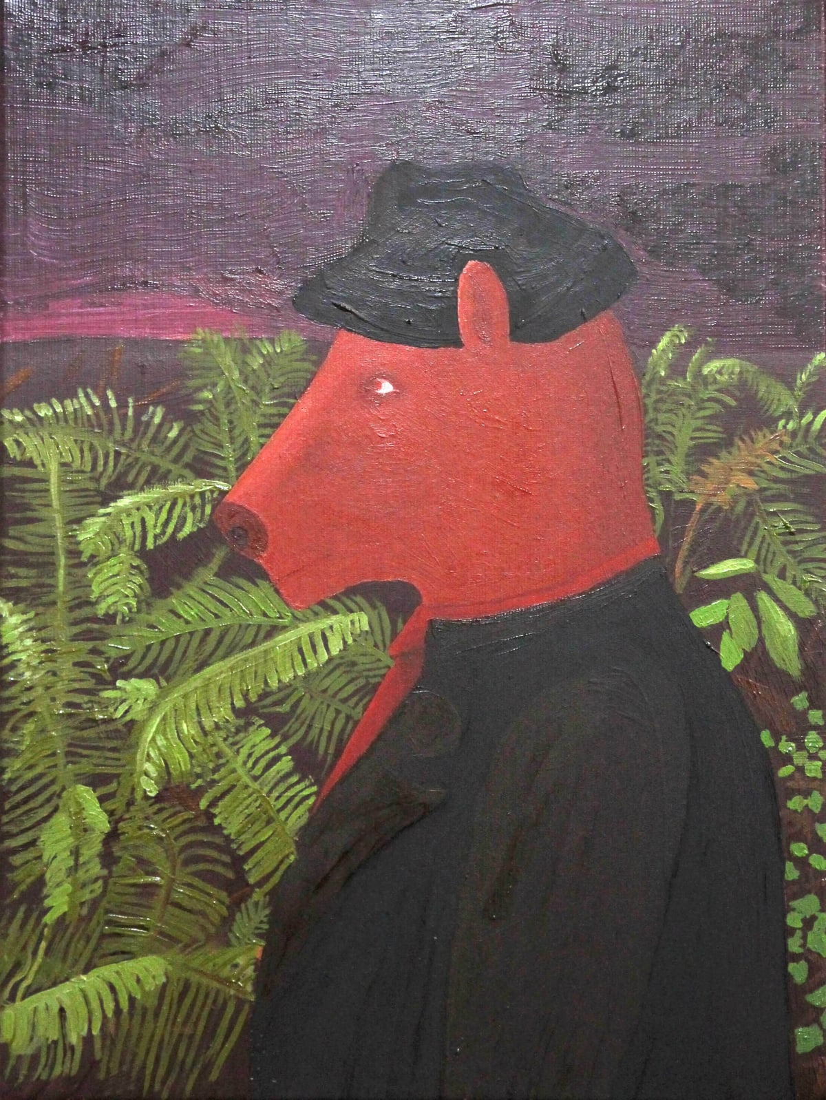 Oscar Fouz Lopez Whiskey dealer Oil on canvas 40.5 x 30.5 cm