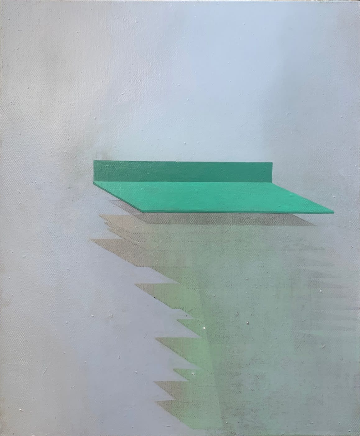 Gillian Lawler Platform II Oil on canvas 50 x 40 cm