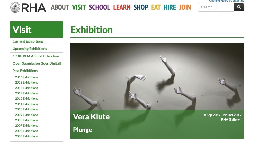 Vera Klute: Plunge at the RHA