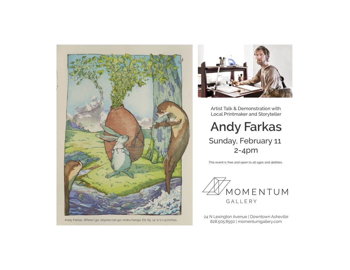 ANDY FARKAS: ARTIST TALK & DEMONSTRATION , Sunday, February 11, 2018, at 2PM