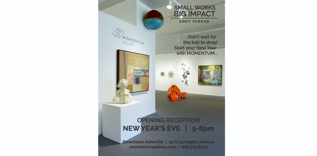 Join us for a New Year's Eve Party, New Year's Eve Opening Reception December 31st, 2017, 5-8pm