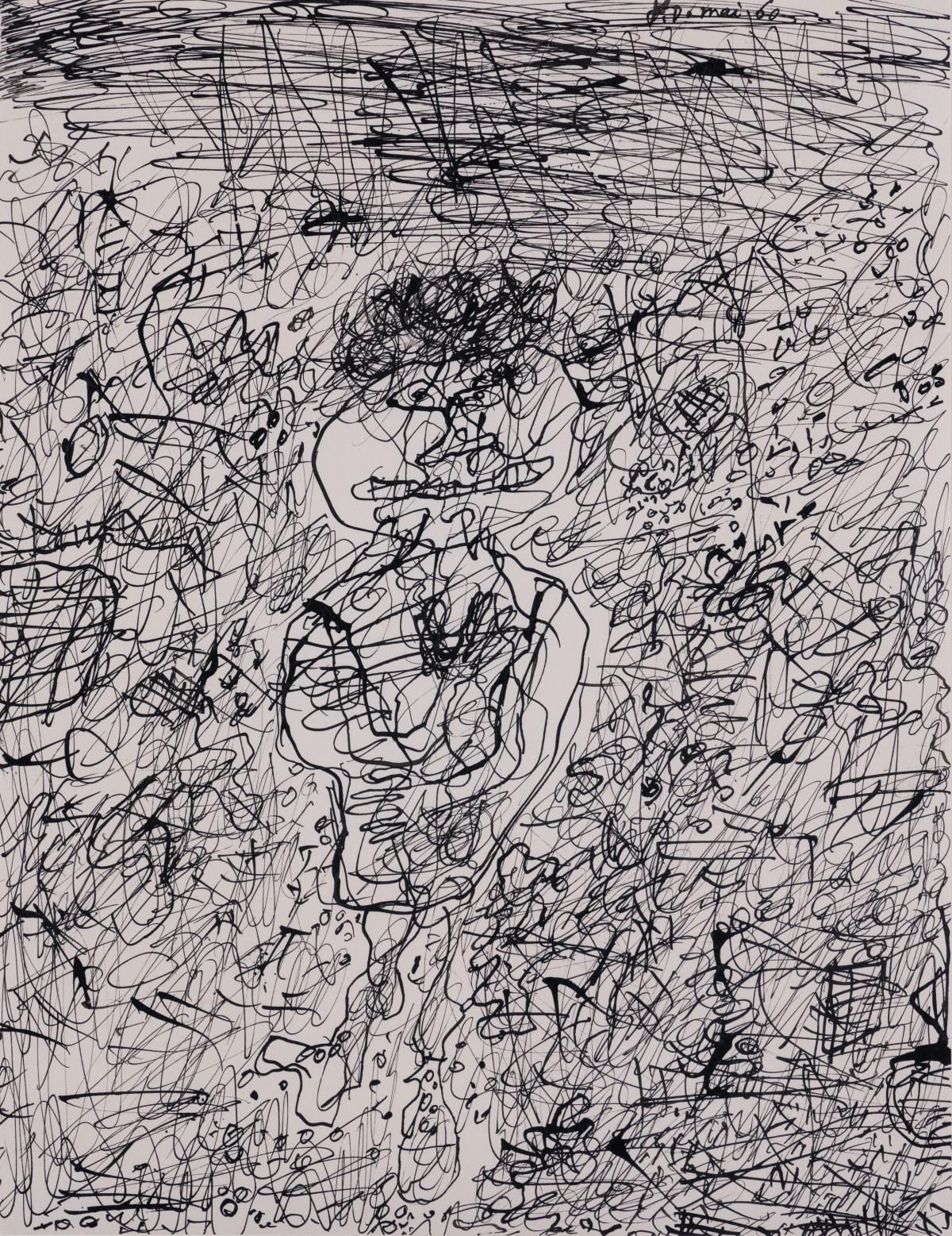 Jean Dubuffet Personnage dans un paysage, mai - juin 1960