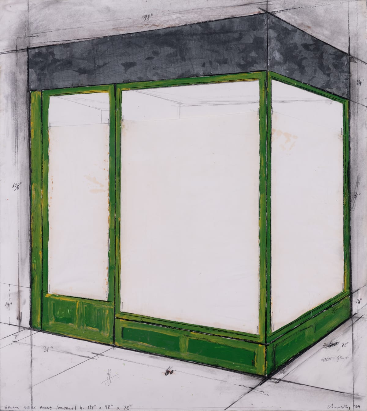 Christo Green store front (project) , 1964