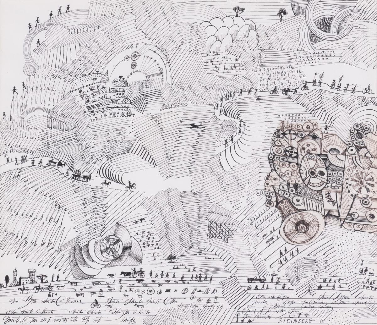 Saul Steinberg Sans titre, (Paysage égyptien), 1965