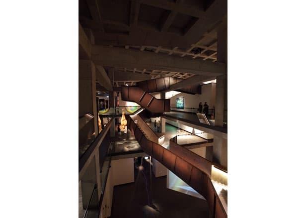 Corten Stairwell Surrounding Artworks